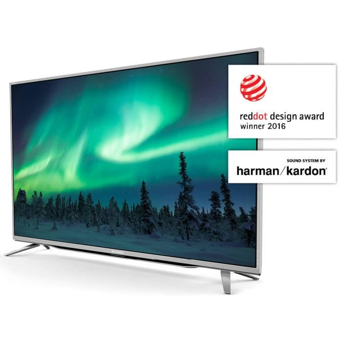 SHARP LC55CUF8472ES TV LED 4K UHD 139 cm (55″) – Son by Harman Kardon – Smart TV – 3xHDMI – Classe énergétique A