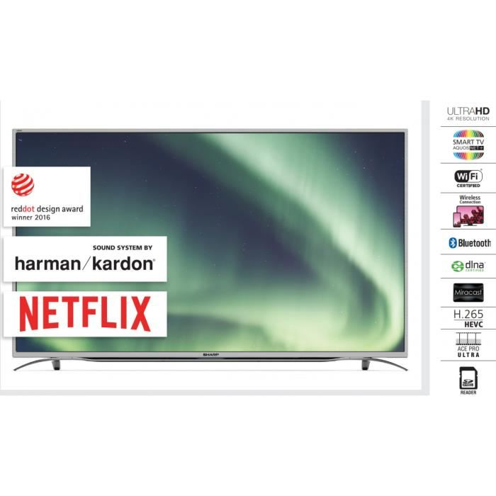 Téléviseur SHARP LC55CUF8372ES 55′ LED Ultra HD